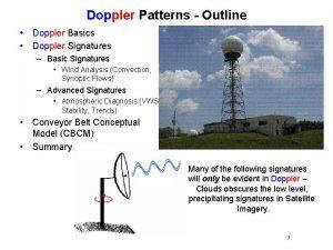 Doppler Patterns Outline Doppler Basics Doppler Signatures Basic