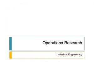 Operations Research Industrial Engineering Analisa Sensitivitas 2 Pengaruh