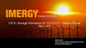 CPUC Storage Workshop R 15 03 011 Station