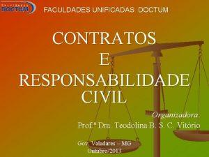 FACULDADES UNIFICADAS DOCTUM CONTRATOS E RESPONSABILIDADE CIVIL Organizadora