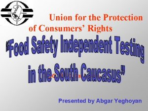 Union for the Protection of Consumers Rights SDC