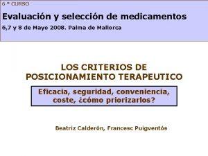 6 CURSO Evaluacin y seleccin de medicamentos 6