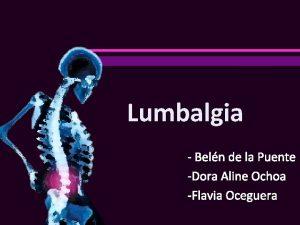 Lumbalgia Beln de la Puente Dora Aline Ochoa