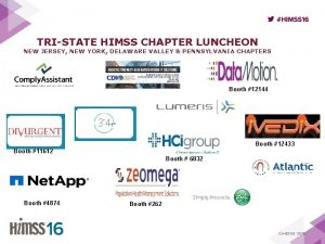 TRISTATE HIMSS CHAPTER LUNCHEON NEW JERSEY NEW YORK