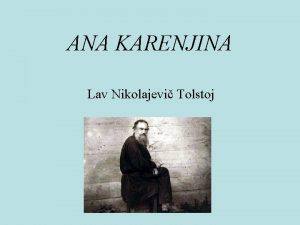 ANA KARENJINA Lav Nikolajevi Tolstoj Openito Jedan od