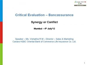 Critical Evaluation Bancassurance Synergy or Conflict Mumbai 4