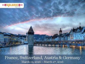 France Switzerland Austria Germany March 19 2016 March