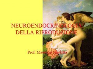 NEUROENDOCRINOLOGIA DELLA RIPRODUZIONE Prof Maurizio Marletta Definizione della