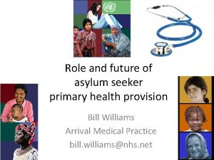 Role and future of asylum seeker primary health