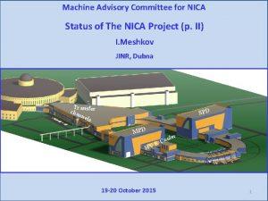 Machine Advisory Committee for NICA Status of The