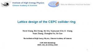 Lattice design of the CEPC collider ring Yiwei