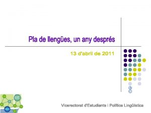 Perfil lingstic ptim Comunicaci i informaci institucional Docncia
