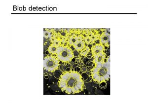 Blob detection Achieving scale covariance Goal independently detect
