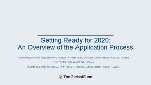 Getting Ready for 2020 An Overview of the