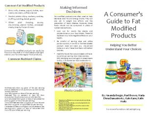 Common Fat Modified Products Making Informed Decisions Dairy