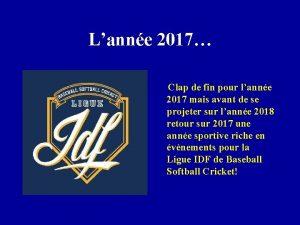 Lanne 2017 Clap de fin pour lanne 2017