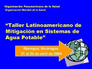 Organizacin Panamericana de la Salud Organizacin Mundial de