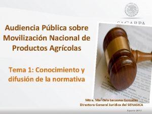 Audiencia Pblica sobre Movilizacin Nacional de Productos Agrcolas