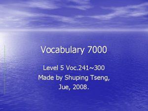 Vocabulary 7000 Level 5 Voc 241300 Made by