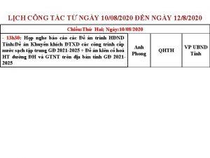 LCH CNG TC T NGY 10082020 N NGY
