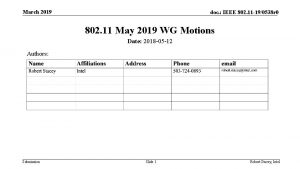 March 2019 doc IEEE 802 11 190538 r