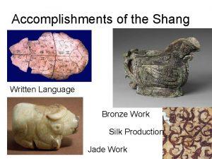 Accomplishments of the Shang Written Language Bronze Work