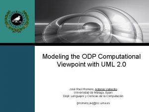 Modeling the ODP Computational Viewpoint with UML 2