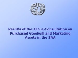 Results of the AEG eConsultation on Purchased Goodwill