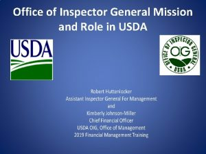 Office of Inspector General Mission and Role in
