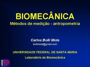 BIOMEC NICA Mtodos de medio antropometria Carlos Bolli