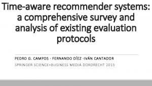 Timeaware recommender systems a comprehensive survey and analysis