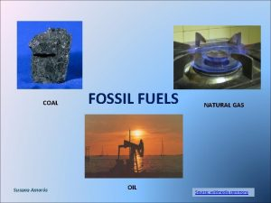 COAL Susana Amors FOSSIL FUELS OIL NATURAL GAS