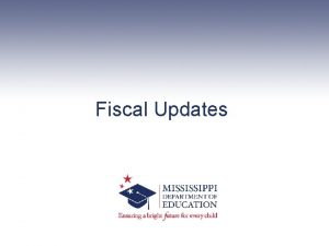 Fiscal Updates Extended School Year Application ESY Extended