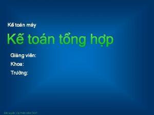 K ton my K ton tng hp Ging
