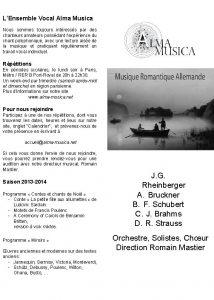 LEnsemble Vocal Alma Musica Nous sommes toujours intresss