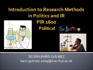 Introduction to Research Methods in Politics and IR