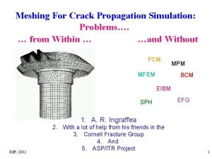 Meshing For Crack Propagation Simulation Problems from Within