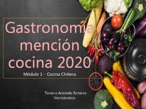 Gastronoma mencin cocina 2020 Mdulo 1 Cocina Chilena