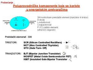 Podseanje Poluprovodnike komponente koje se koriste u energetskim