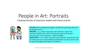 People in Art Portraits Creating Portraits of Important