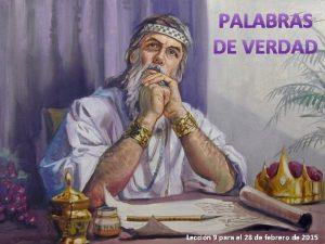 PALABRAS DE VERDAD Leccin 9 para el 28