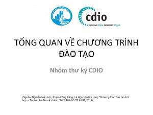 TNG QUAN V CHNG TRNH O TO Nhm