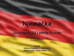 Njemaka Upoznajmo EU i zemlje Europe Knjinica O
