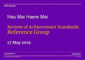 Nau Mai Haere Mai Review of Achievement Standards
