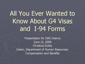 All You Ever Wanted to Know About G