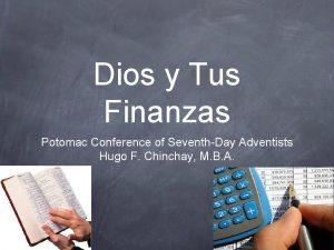 Dios y Tus Finanzas Potomac Conference of SeventhDay