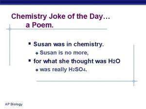 Chemistry Joke of the Day a Poem Susan