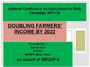 National Conference on Agriculture for Rabi Campaign 2017