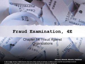 Fraud Examination 4 E Chapter 14 Fraud Against