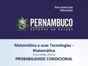 Matemtica e suas Tecnologias Matemtica Ensino Mdio 2